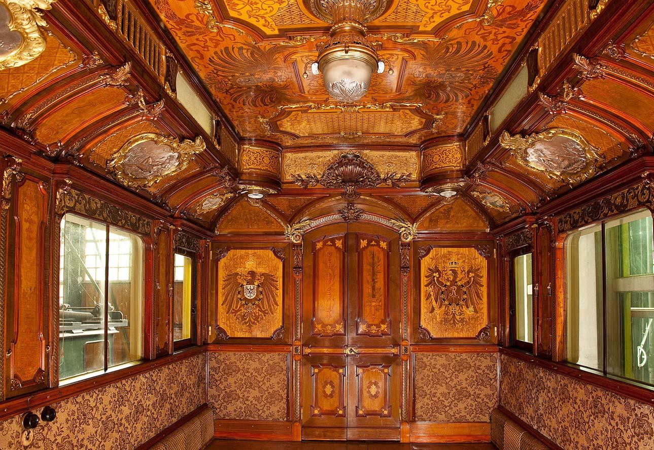 Blick nach innen Salonwagen Kaiser Wilhelm II.