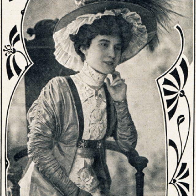 Frühjahrshut mit Taft 1908