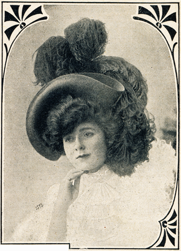 Frühjahrshut 1908 mit Federn