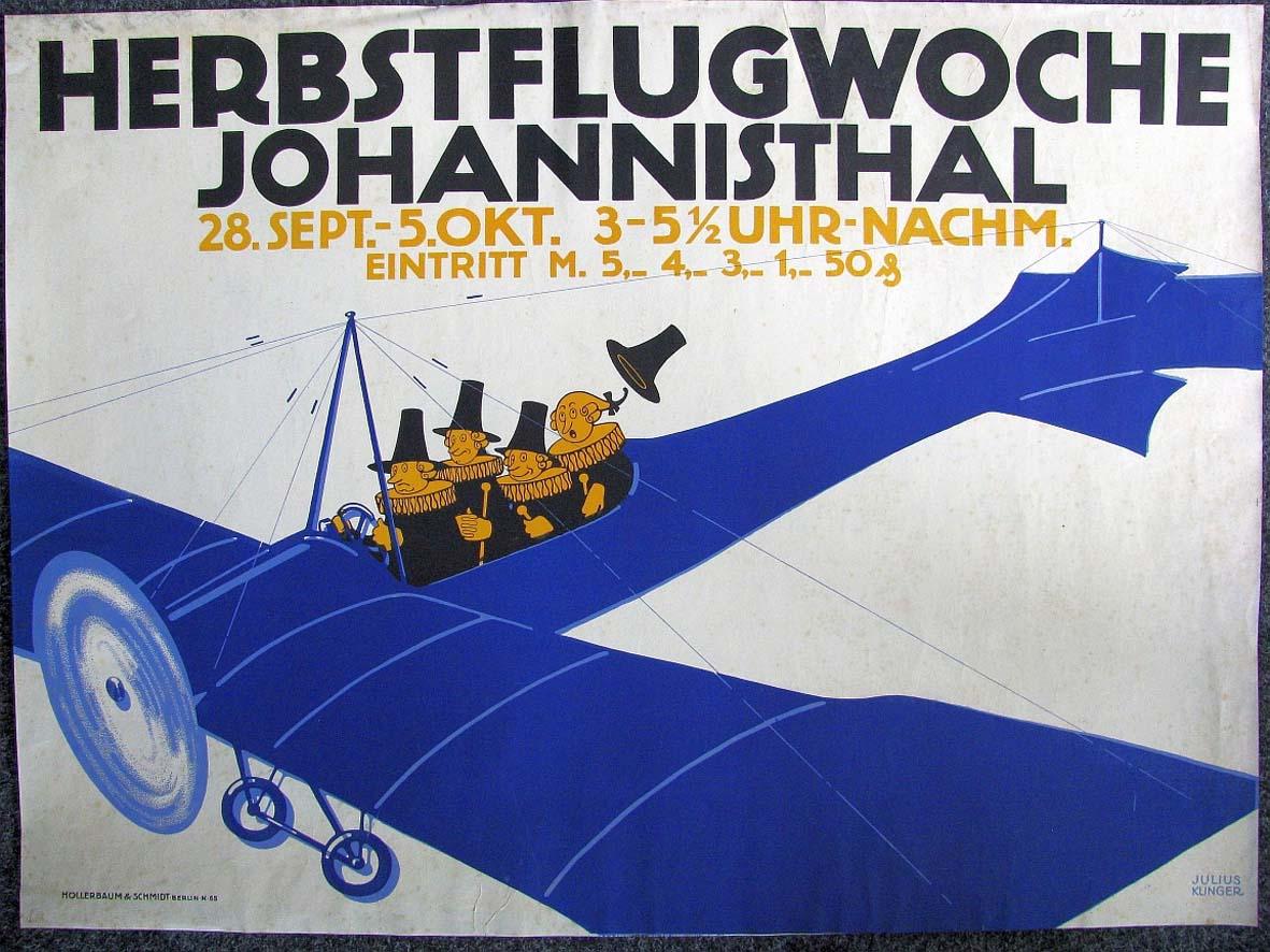 Plakat Herbstflugwoche Johannisthal