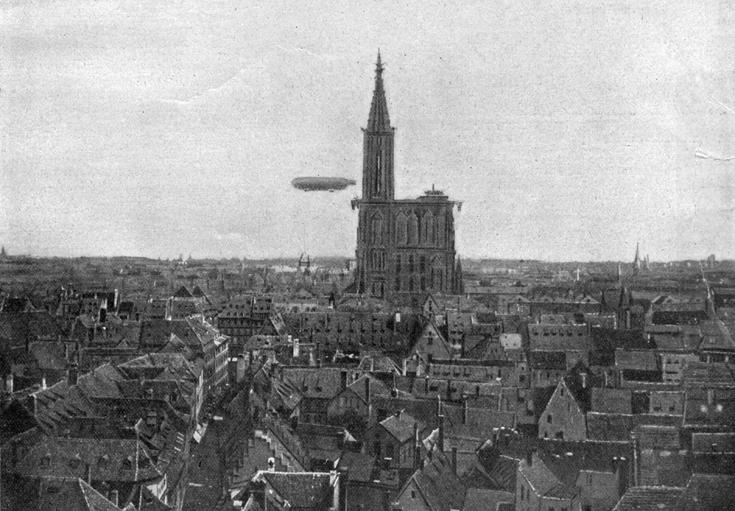 Zeppelinflug Straßburger Münster 1908