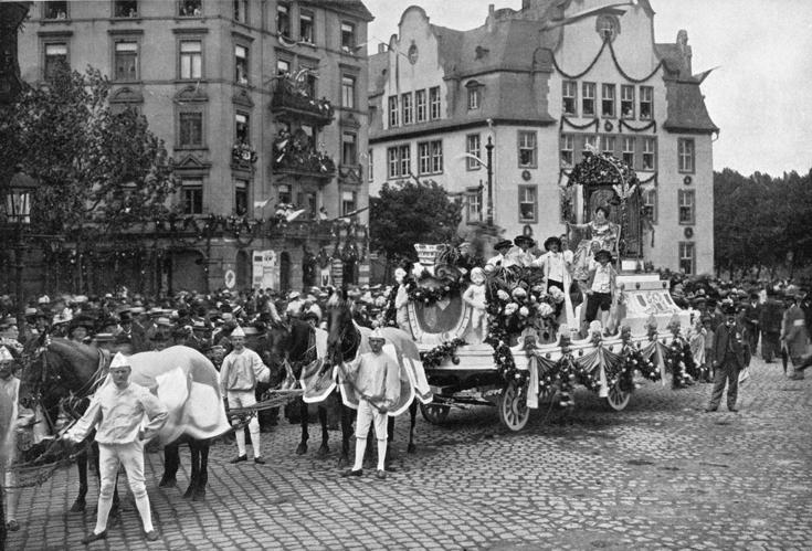Turnfest Frankfurt 1908 Festzug Schnörckel