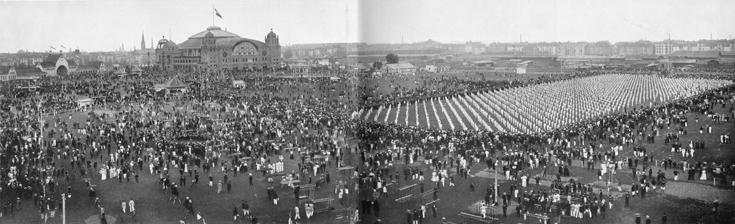 Turnfest 1908 Turnplatz Festhalle