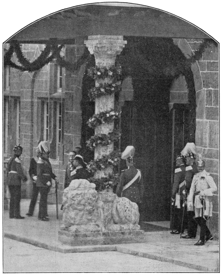 Empfang des Großherzogs Wilhelm an der neuen Jenaer Universität