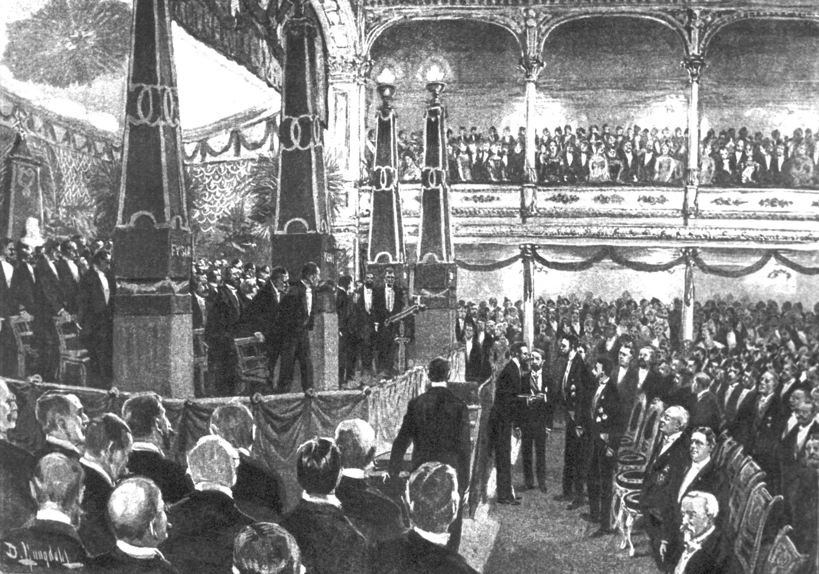 First Prize Award Ceremony 1901© The Nobel Foundation