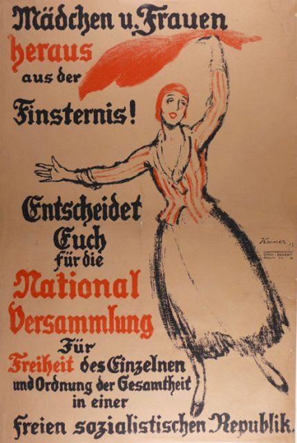 ludwig-kainer-entwurf-wahlplakat-1919-