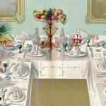 Ein bürgerliches Mittagessen wie damals I: Vom gedeckten Tisch, Einladungen und Tischmanieren
