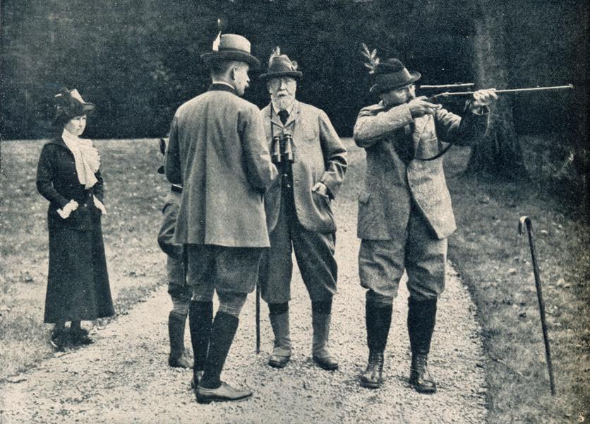 woche-1911-2.-nr.42-s.-1782-furst-von-pless-mit-jagdgasten-sm