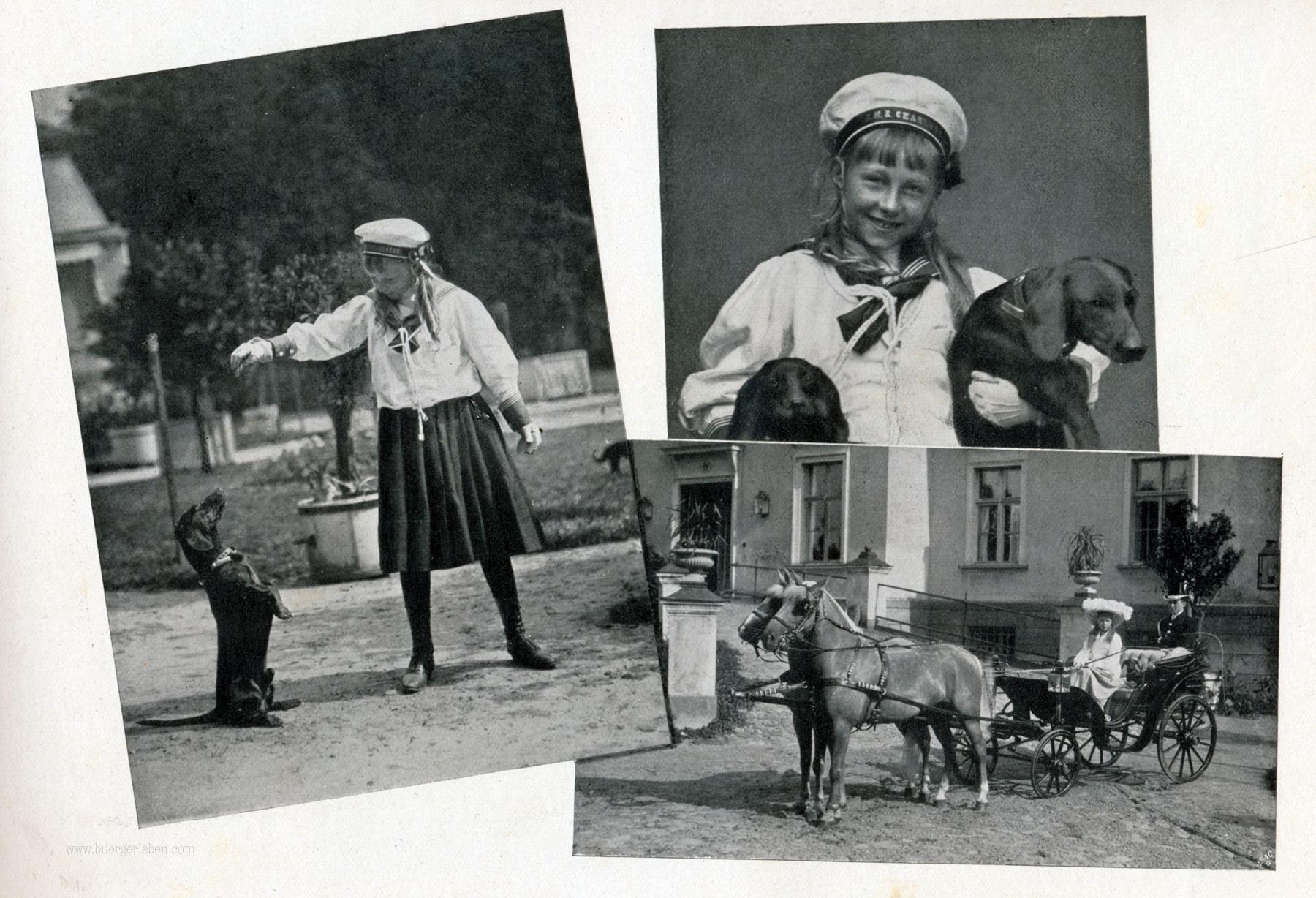 sommeraufenthalt-der-deutschen-kaiserfamilie-cadinen-s.7_prinzessin-victorkia-luise-mit-ihren-lieblingen