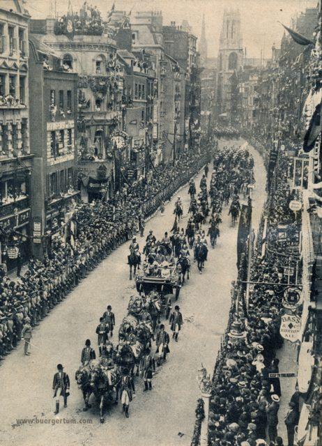 die-woche-11-band-1-s.1078_kronungsfestlichkeiten-in-england-umzug-in-fleetstreet